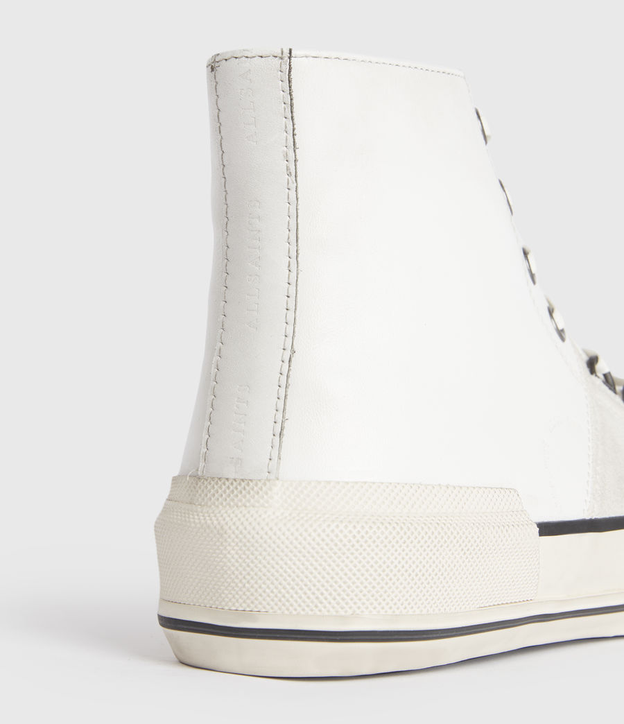 Men's Waylon High Top Leather Trainers (off_white) - Image 5