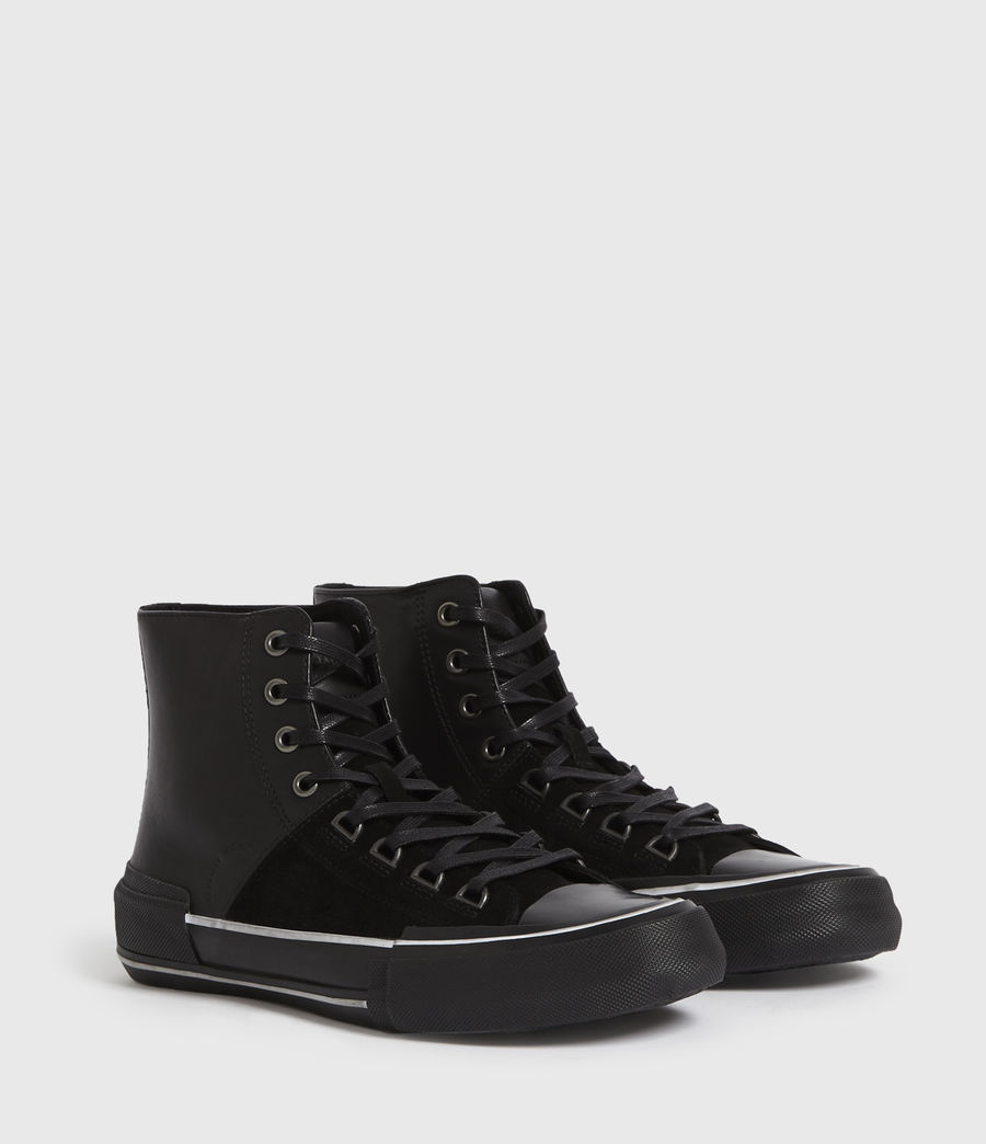 Men's Waylon High Top Leather Trainers (off_white) - Image 3