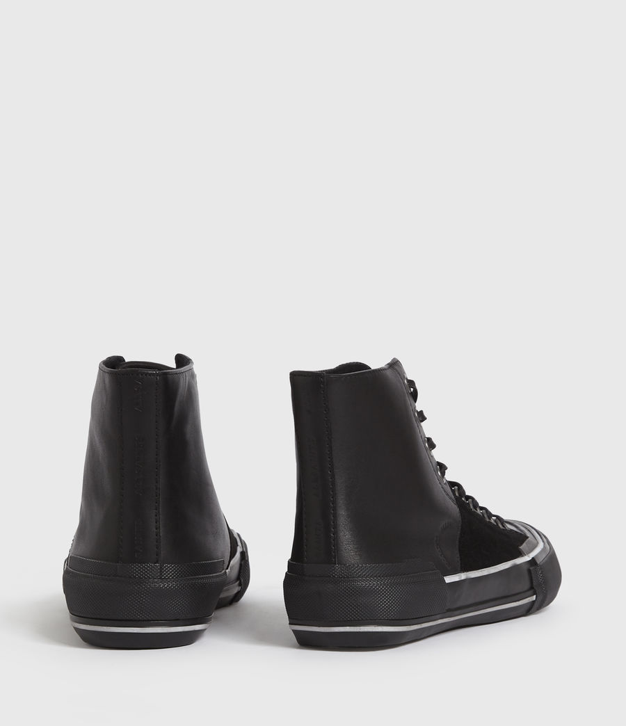 Men's Waylon High Top Leather Trainers (off_white) - Image 6