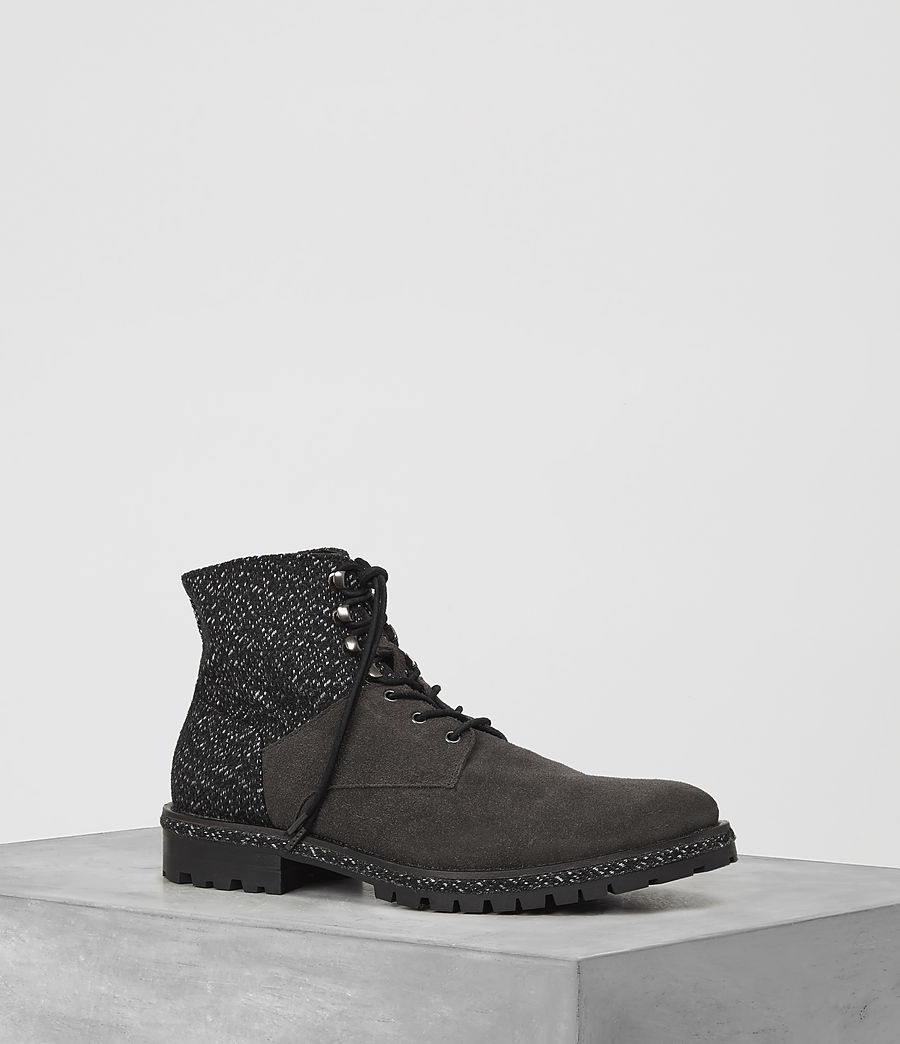 Hombres Botas Weir (tweed_charcoal) - Image 1