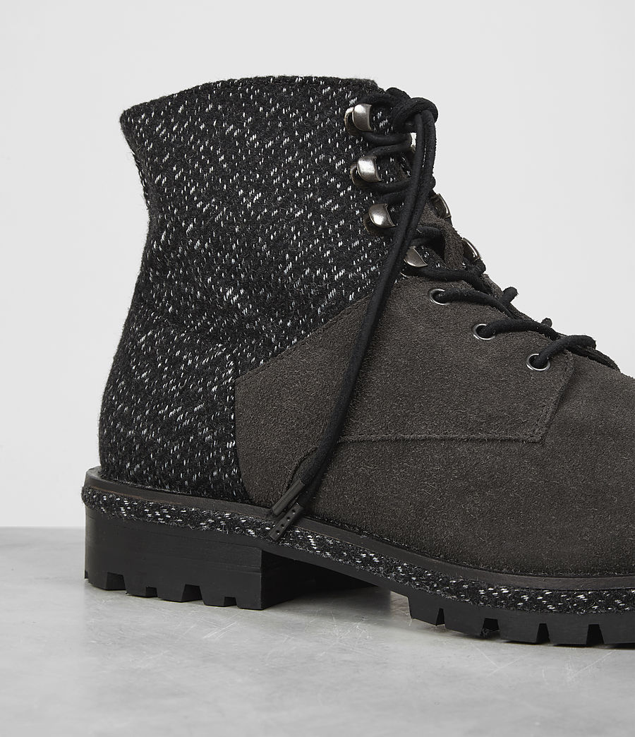 Hombres Botas Weir (tweed_charcoal) - Image 2