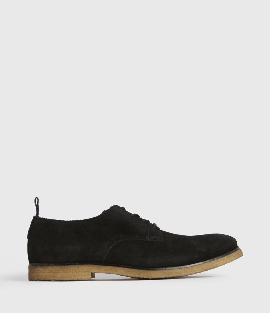 Men's Leigh Suede Shoes (black) - Image 1