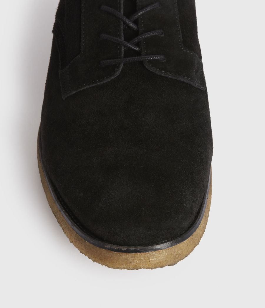 Men's Leigh Suede Shoes (black) - Image 4