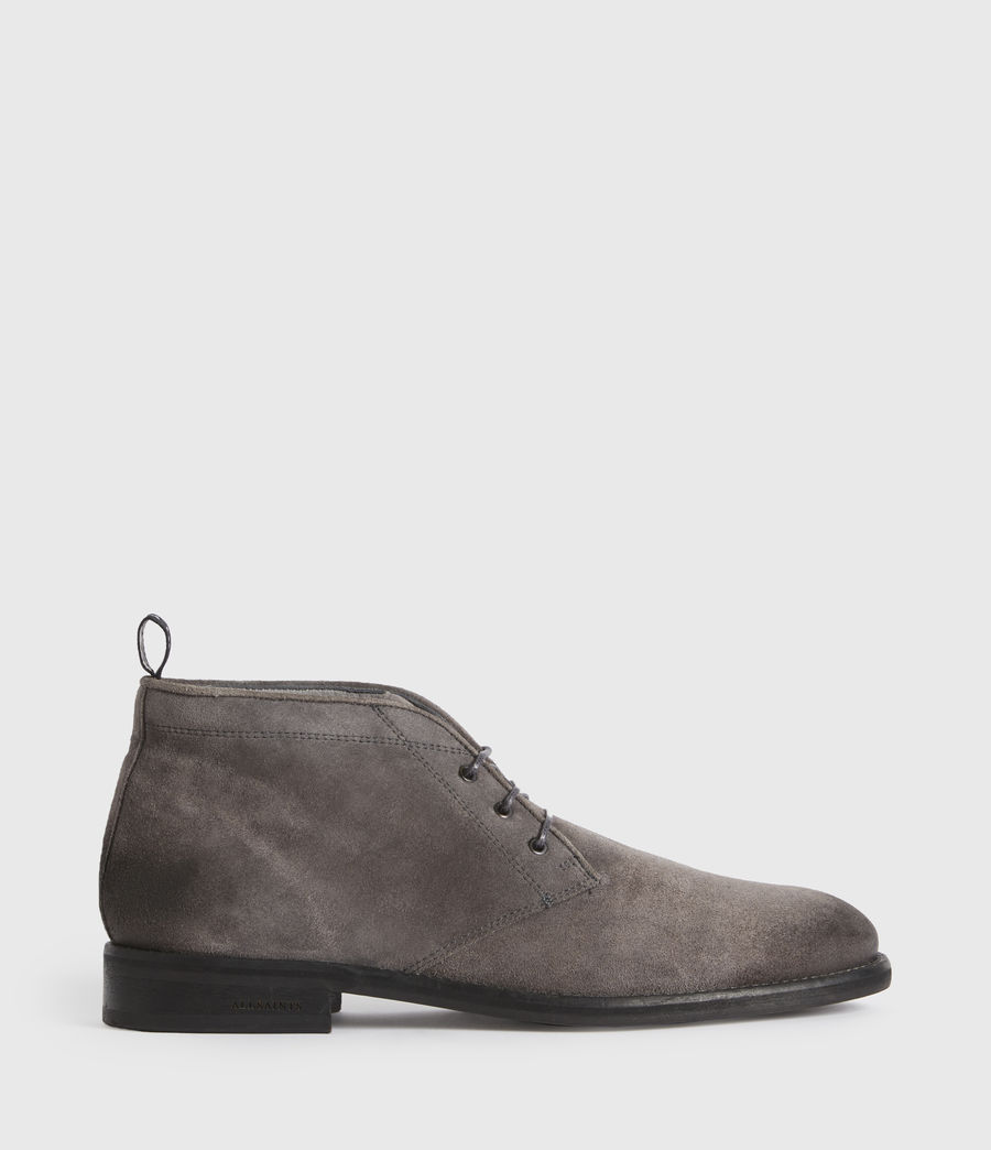 Men's Huxley Suede Boots (charcoal_grey) - Image 1