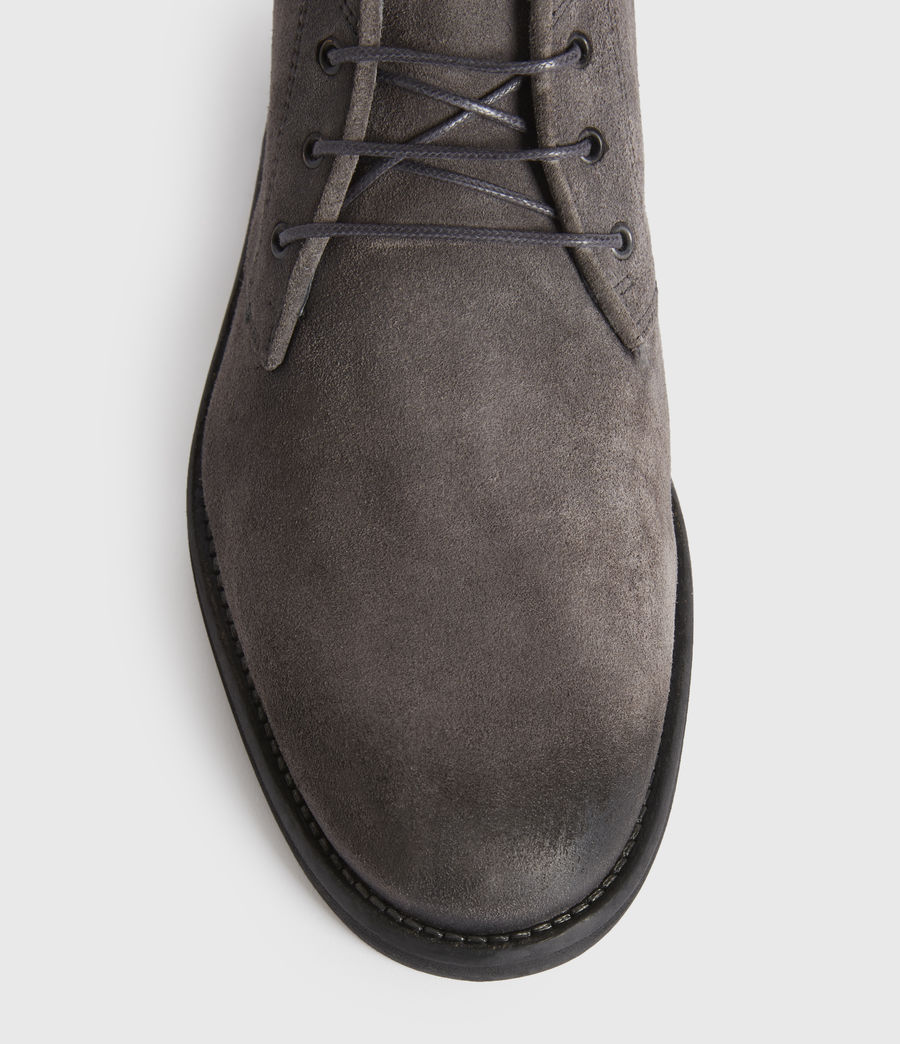 Men's Huxley Suede Boots (charcoal_grey) - Image 4