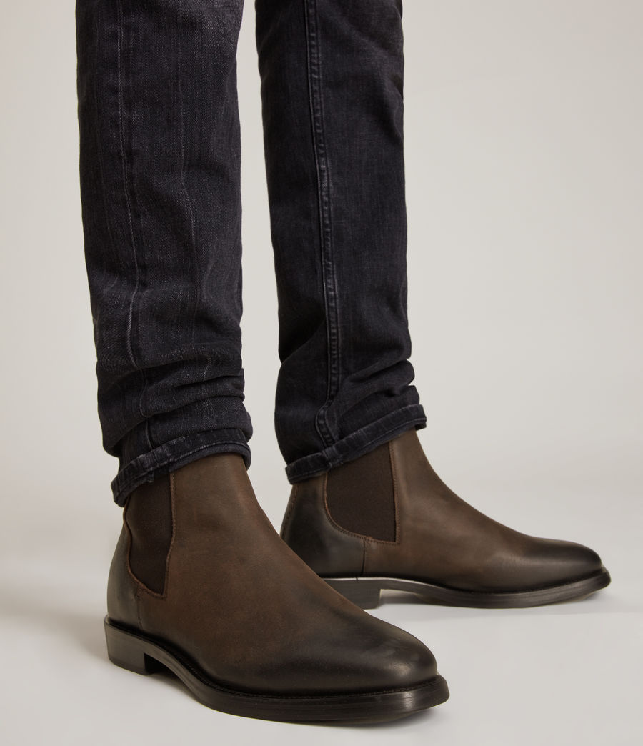 Men's Eli Leather Boots (bitter_chocolate) - Image 2
