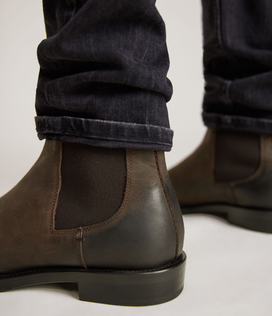 Men's Eli Leather Boots (bitter_chocolate) - Image 4