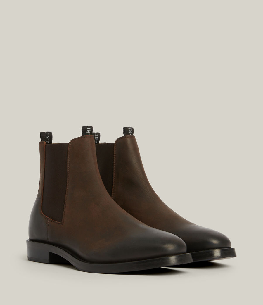 Men's Eli Leather Boots (bitter_chocolate) - Image 5