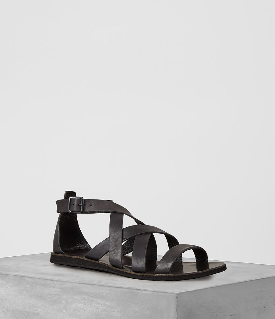 Uomo Atlas Leather Sandal (charcoal) - Image 1