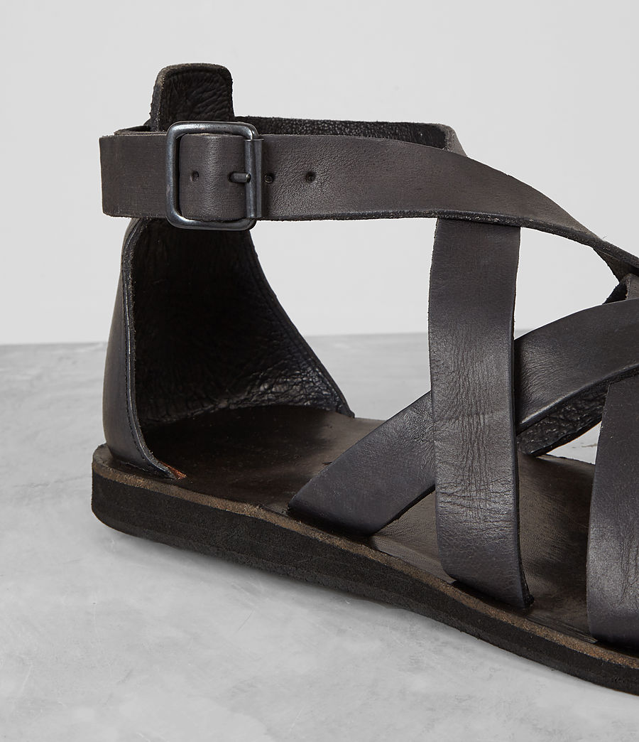 Hombres Atlas Leather Sandal (charcoal) - Image 2