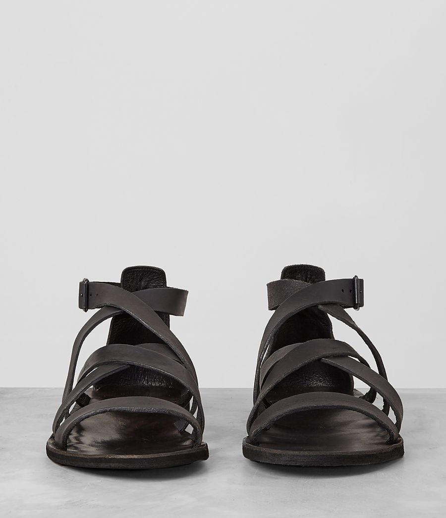 Uomo Atlas Leather Sandal (charcoal) - Image 3