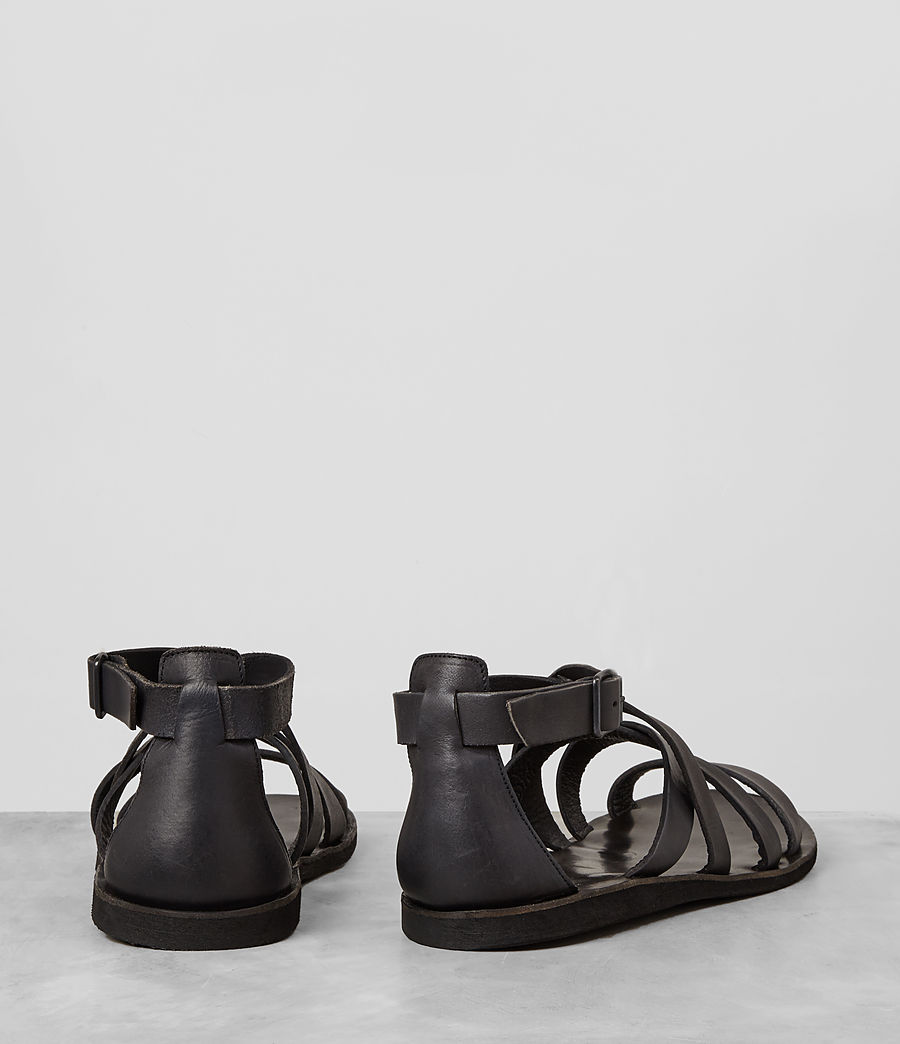 Hombres Atlas Leather Sandal (charcoal) - Image 5