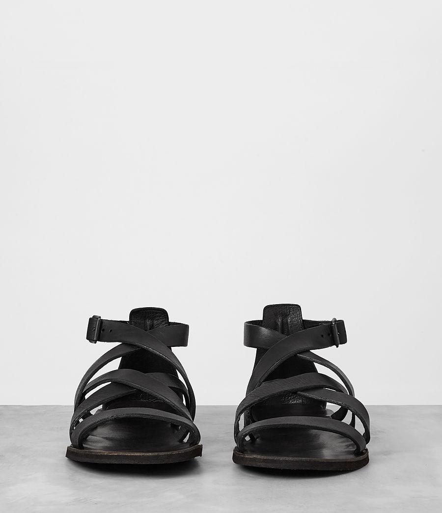 Mens Atlas Leather Sandal (black) - Image 3