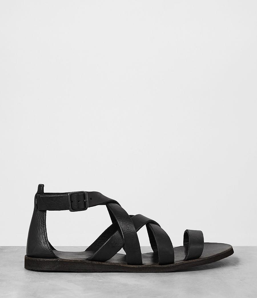 Mens Atlas Leather Sandal (black) - Image 4