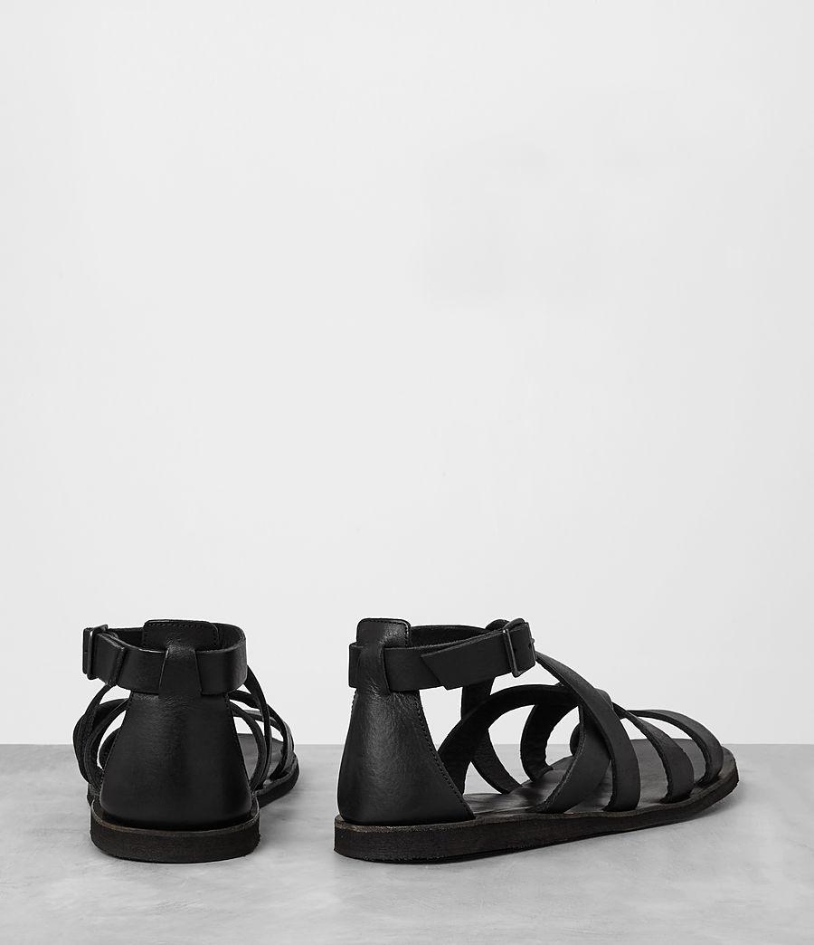 Mens Atlas Leather Sandal (black) - Image 5