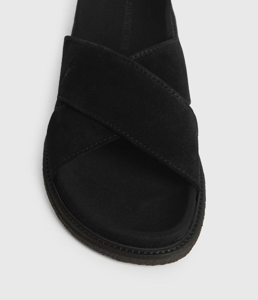 Uomo Elliot Suede Slides (black) - Image 2