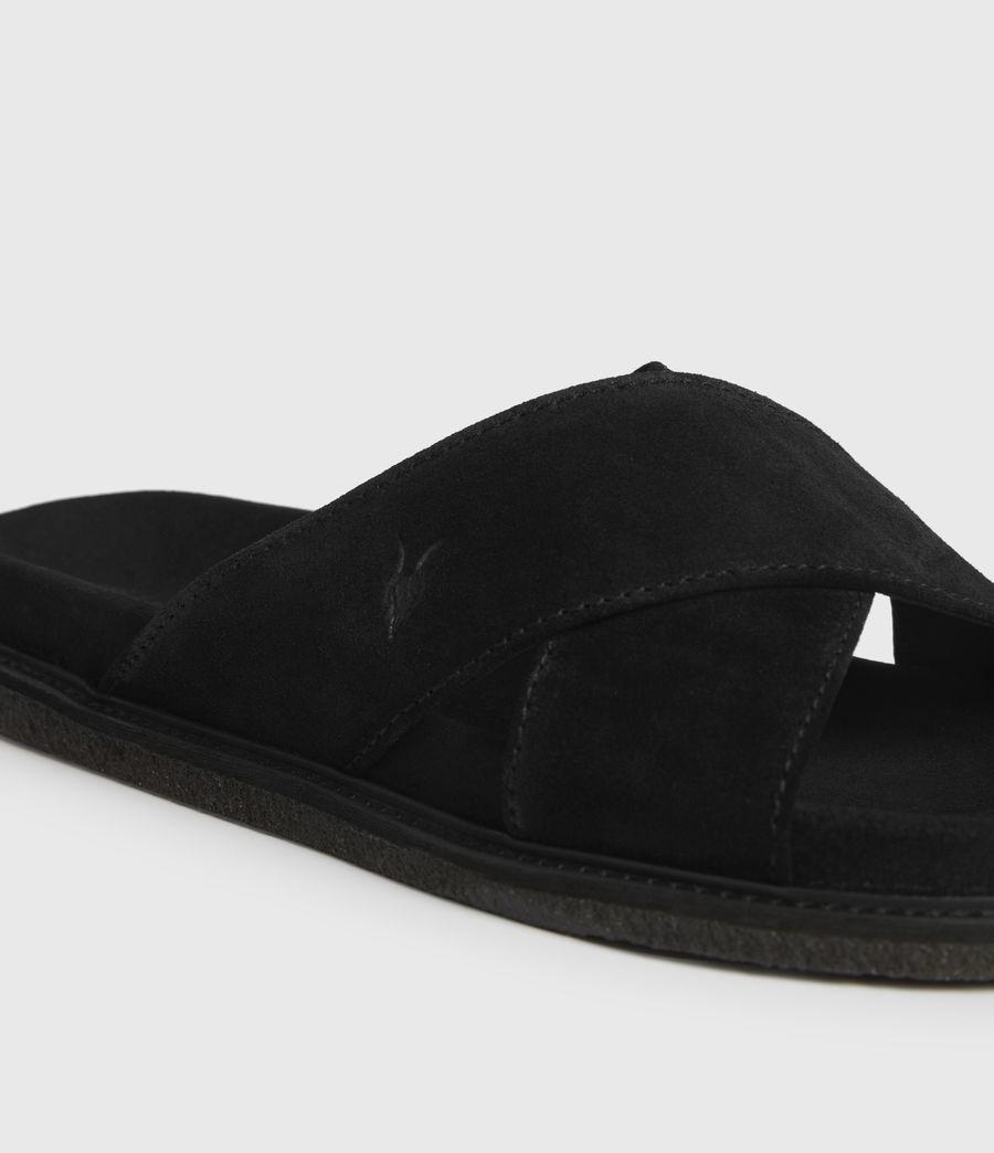 Uomo Elliot Suede Slides (black) - Image 4