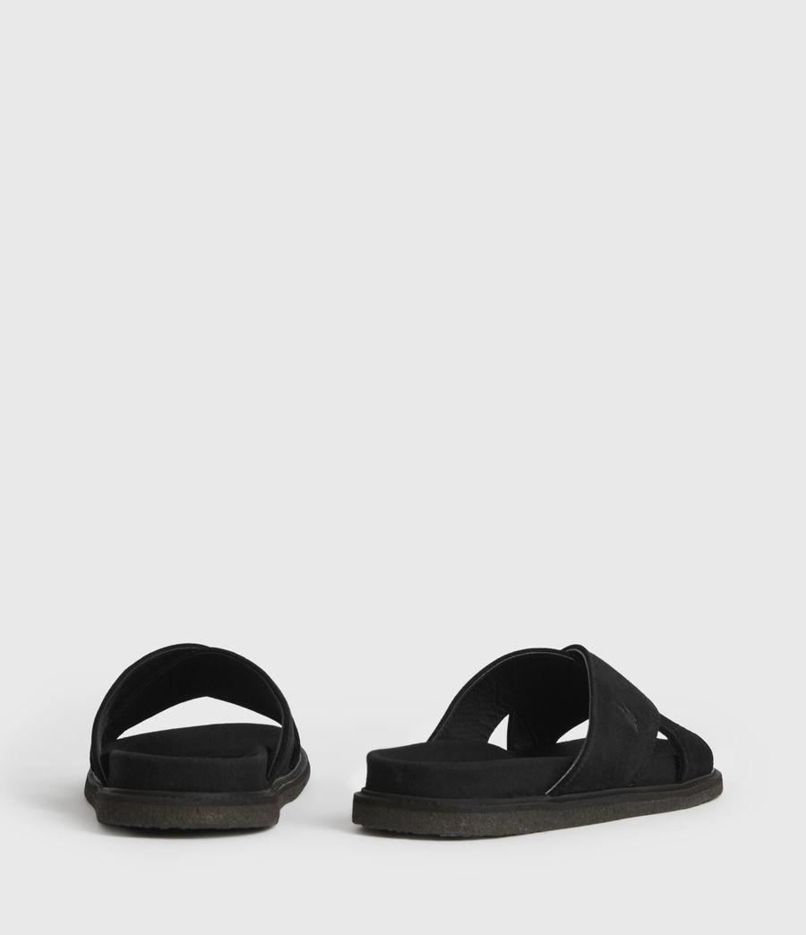 Hombres Elliot Suede Slides (black) - Image 5
