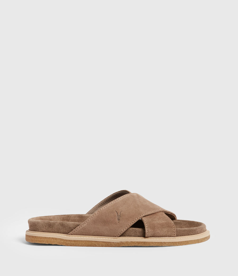 Men's Elliot Suede Slides (taupe) - Image 1