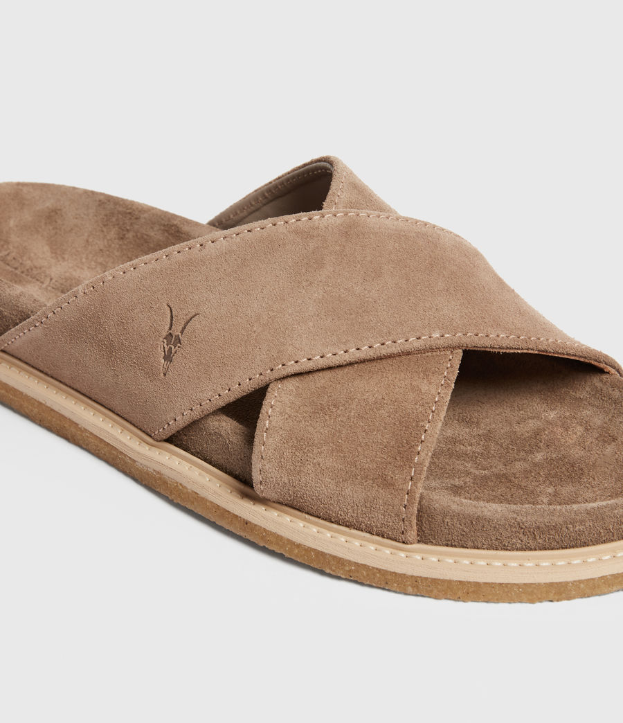 Men's Elliot Suede Slides (taupe) - Image 2