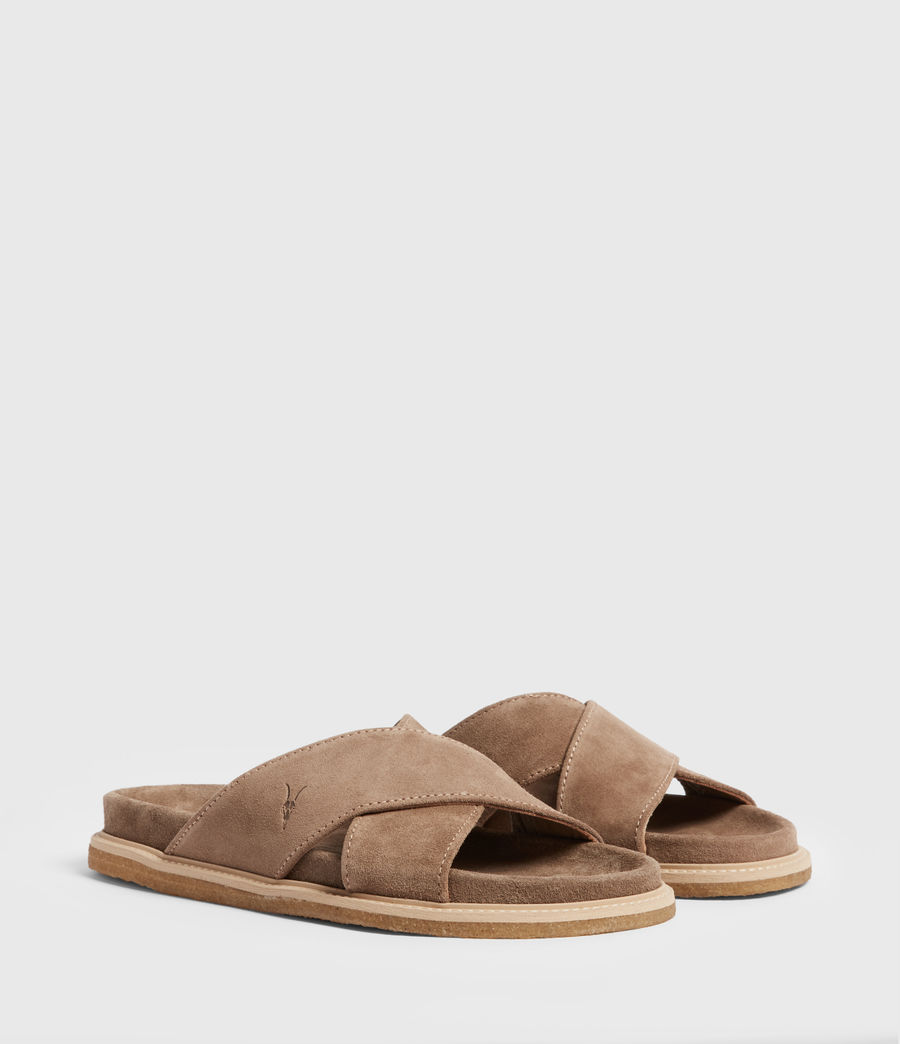 Men's Elliot Suede Slides (taupe) - Image 3