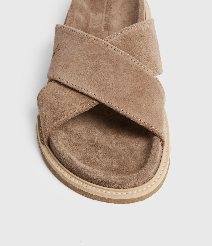 Men's Elliot Suede Slides (taupe) - Image 4