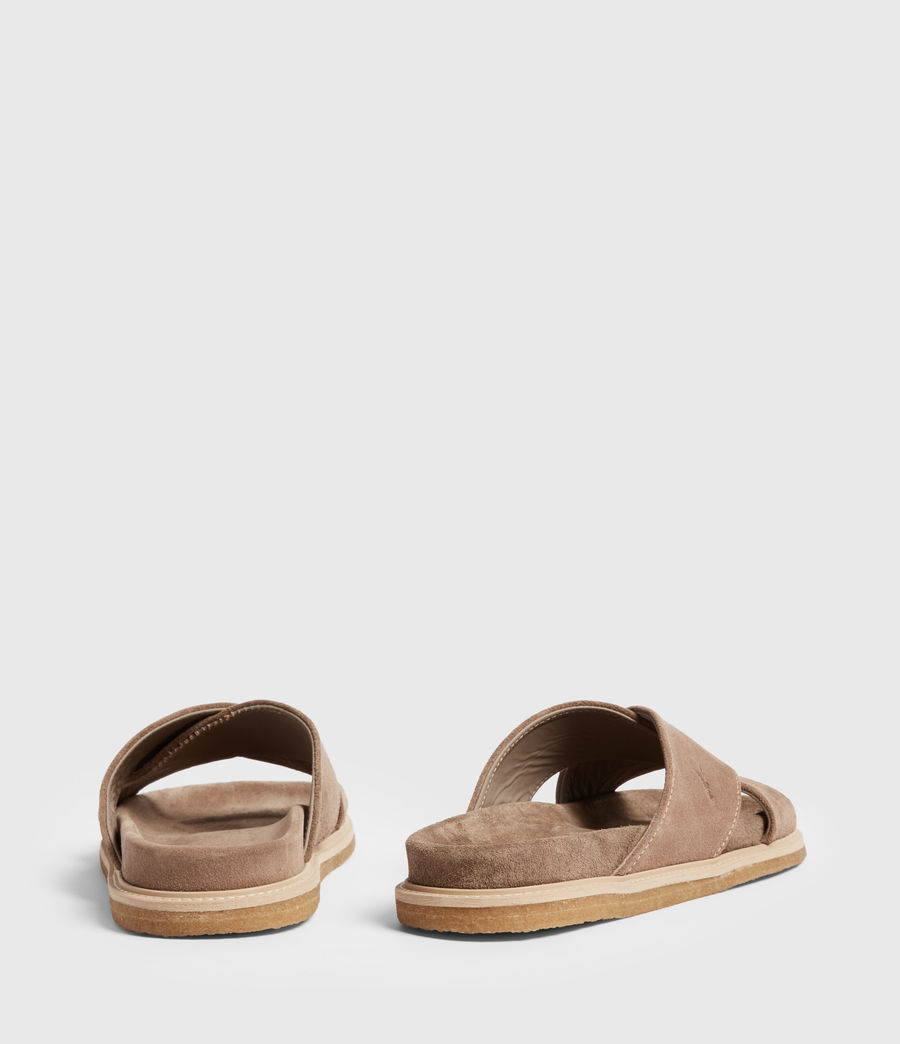 Men's Elliot Suede Slides (taupe) - Image 5