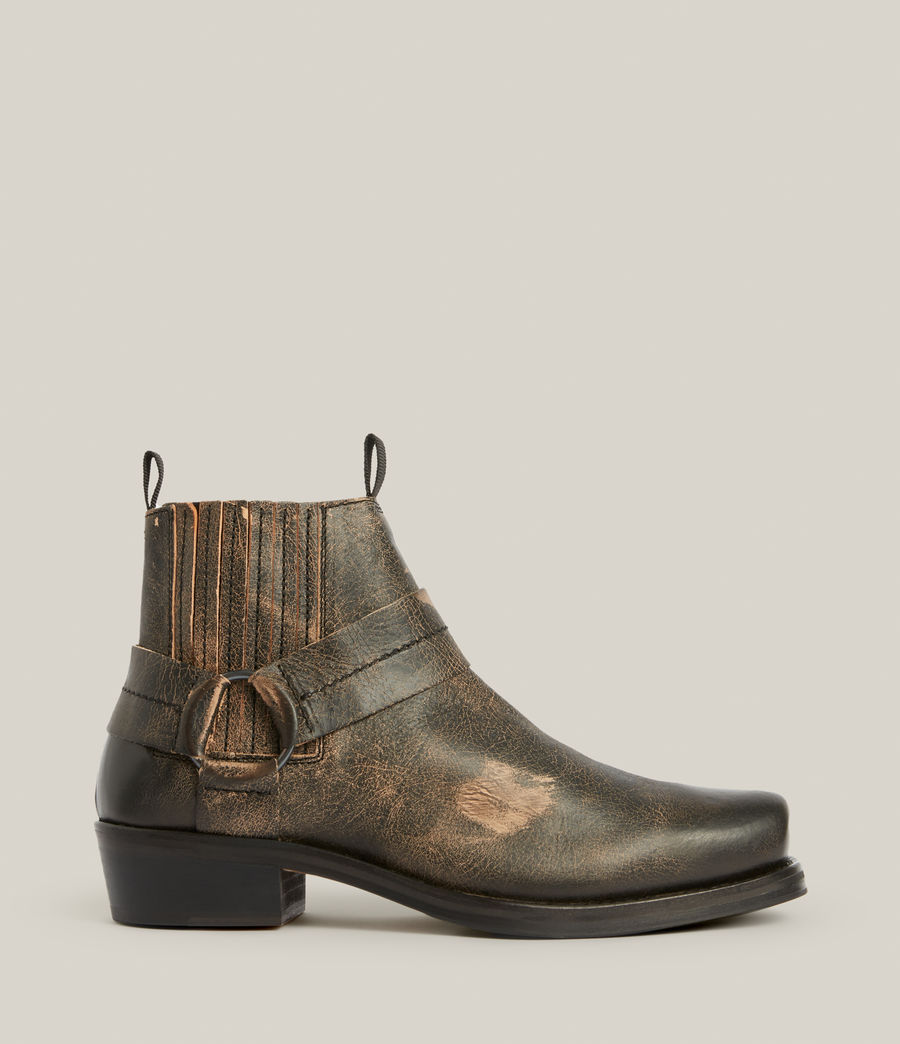 Men's Abbot Leather Boots (distressed_black) - Image 1