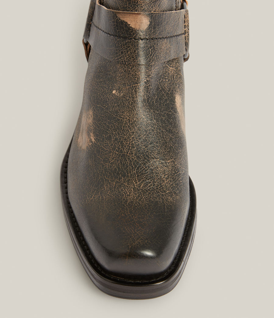 Men's Abbot Leather Boots (distressed_black) - Image 2
