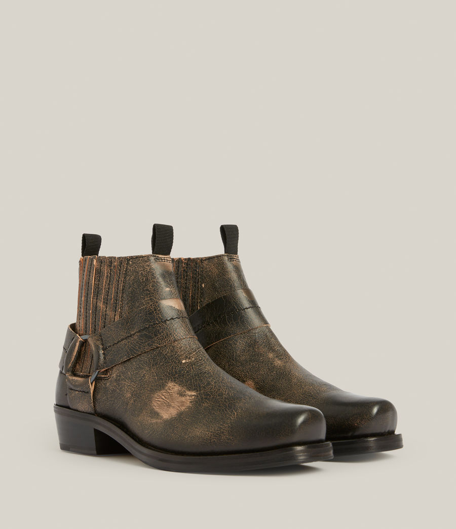 Men's Abbot Leather Boots (distressed_black) - Image 3