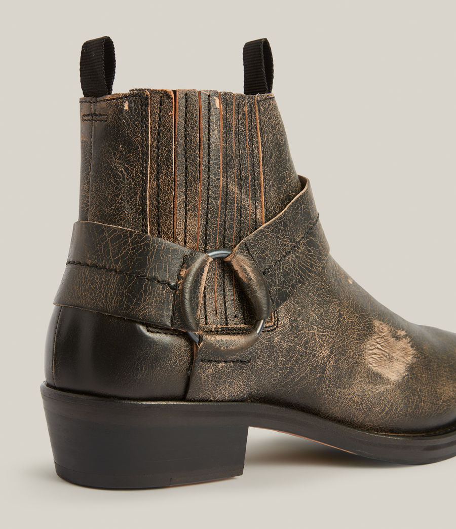 Men's Abbot Leather Boots (distressed_black) - Image 4