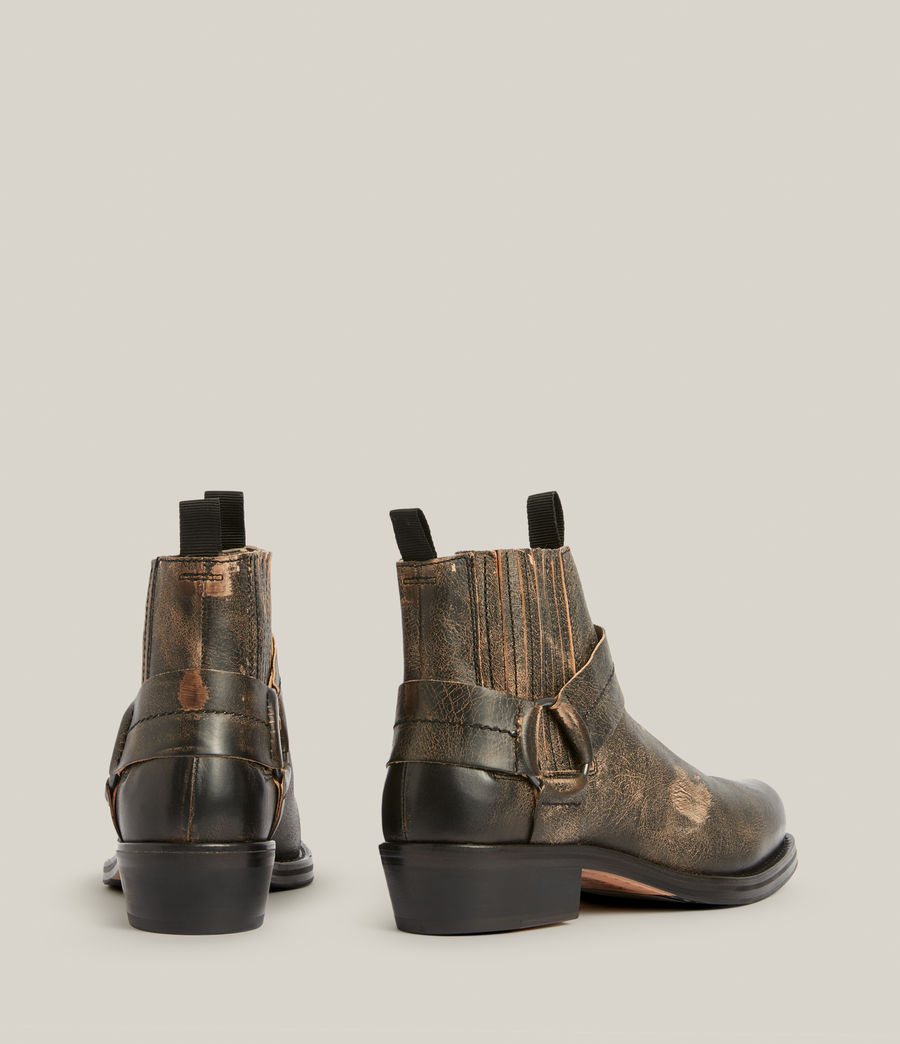Men's Abbot Leather Boots (distressed_black) - Image 5