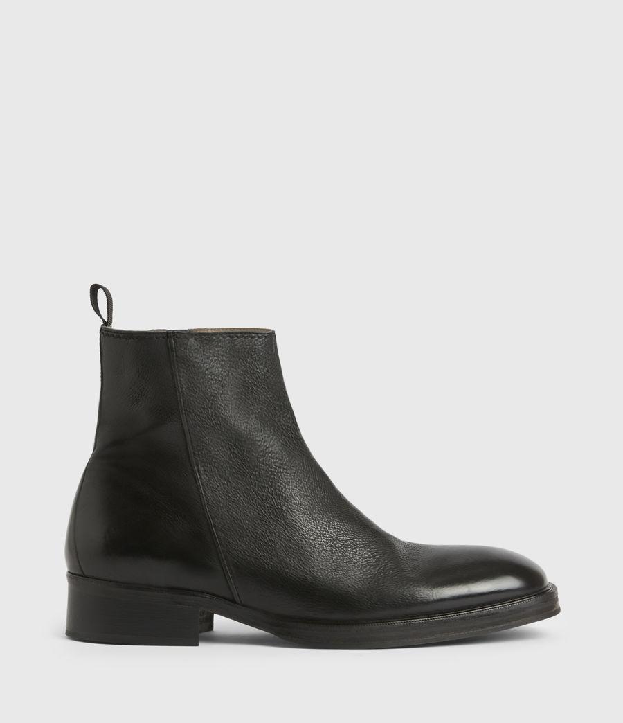 Men's Seth Leather Boots (black) - Image 1