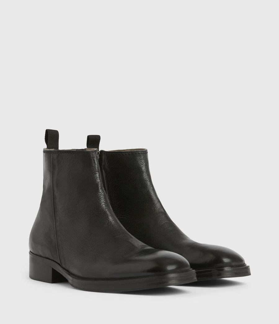 Men's Seth Leather Boots (black) - Image 4