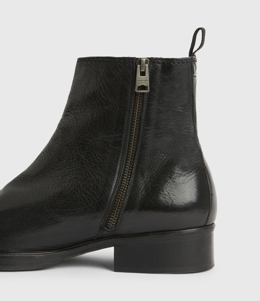 Men's Seth Leather Boots (black) - Image 6