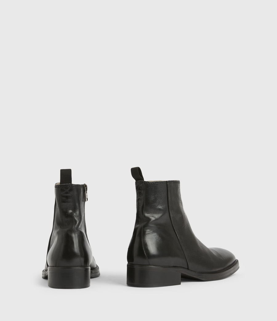 Men's Seth Leather Boots (black) - Image 7