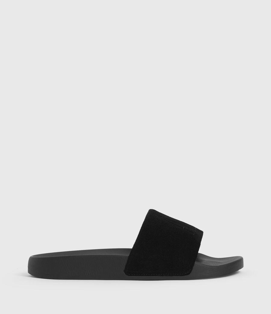 Uomo Sunland Suede Sliders (black) - Image 1