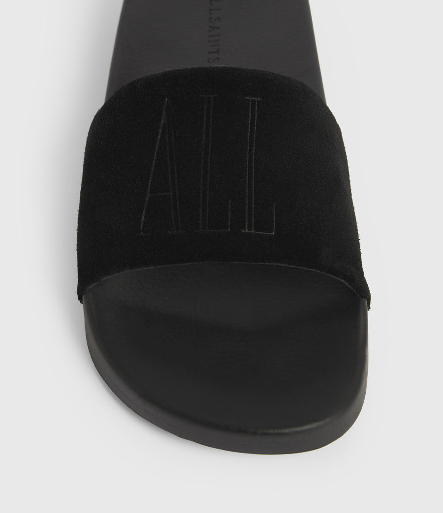 Uomo Sunland Suede Sliders (black) - Image 4