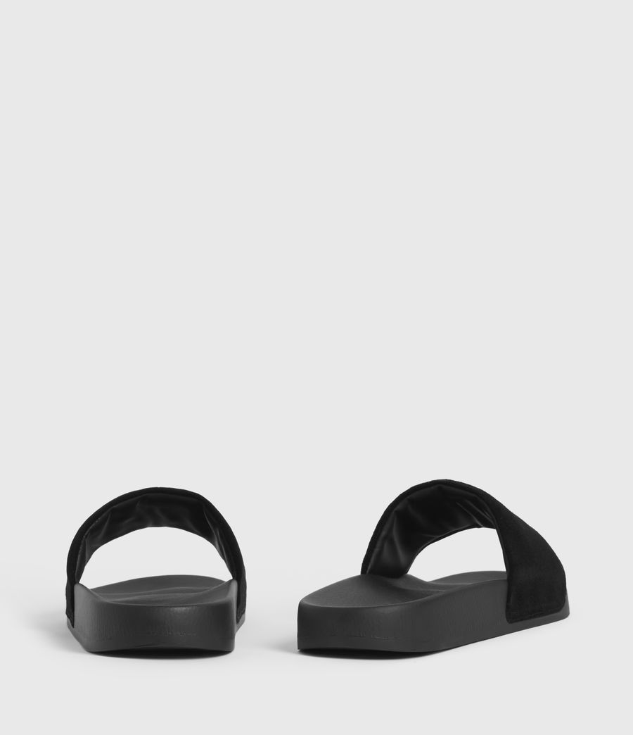Uomo Sunland Suede Sliders (black) - Image 5