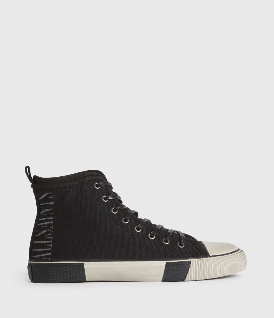 Mens Rigg Stamp High Top Sneakers (black) - Image 1