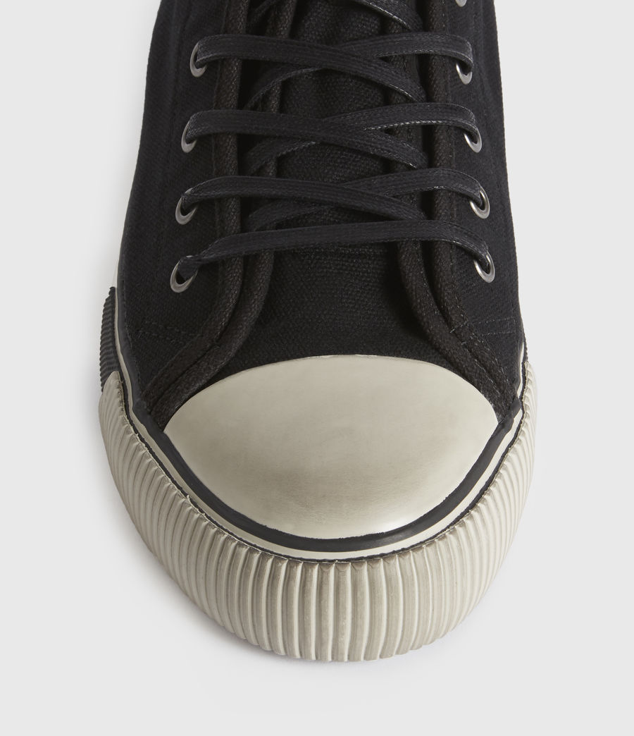 Men's Rigg Stamp High Top Trainers (black) - Image 1