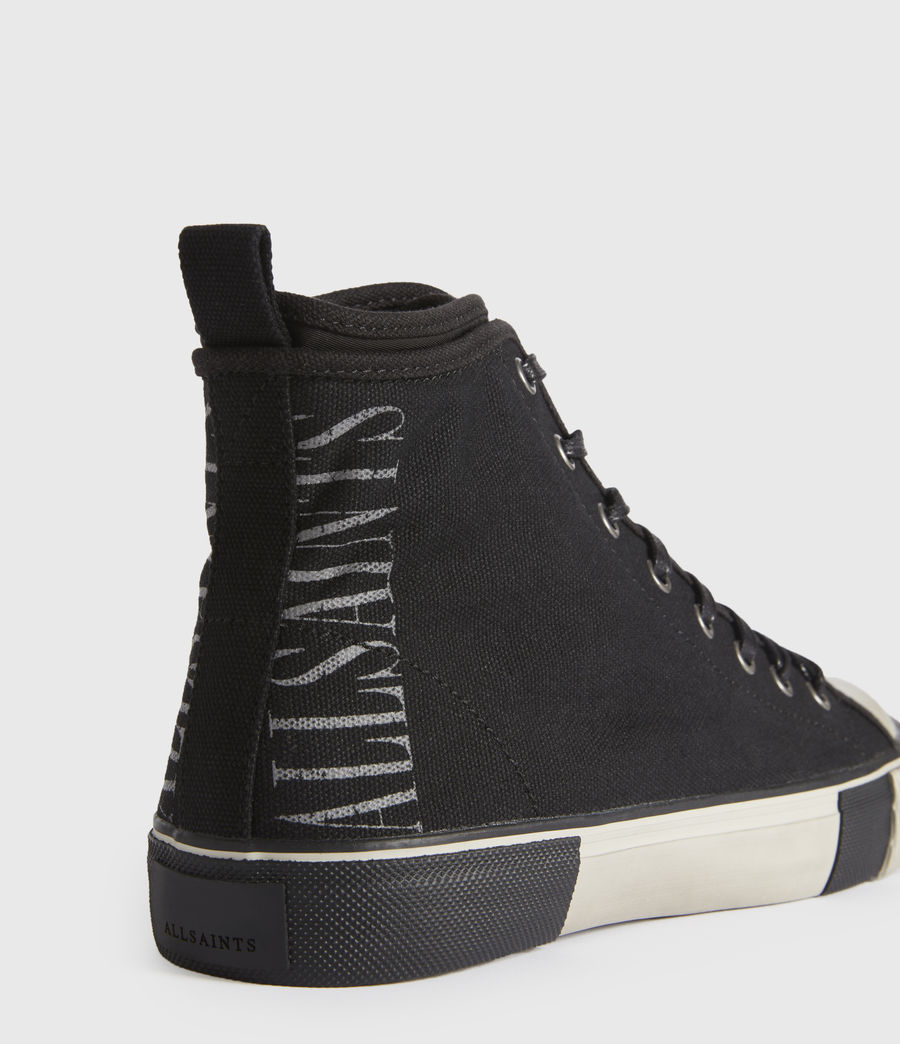 Men's Rigg Stamp High Top Trainers (black) - Image 3