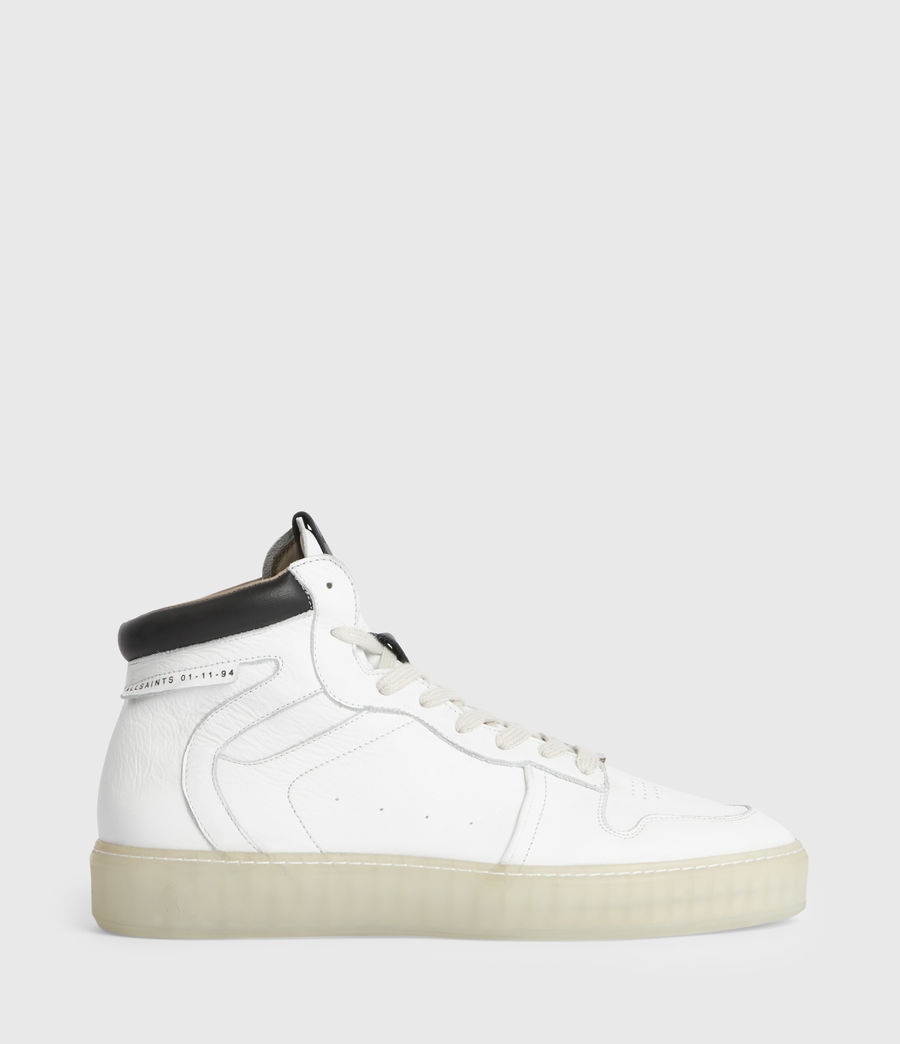 Men's Davian High Top Leather Trainers (chalk_white) - Image 1