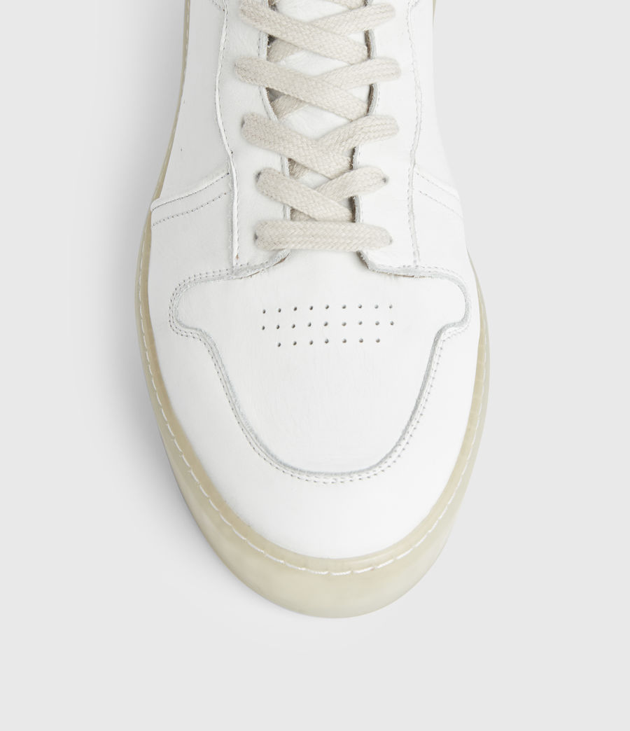 Men's Davian High Top Leather Trainers (chalk_white) - Image 2