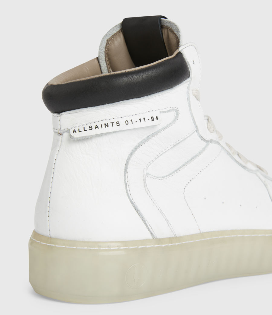 Men's Davian High Top Leather Trainers (chalk_white) - Image 4