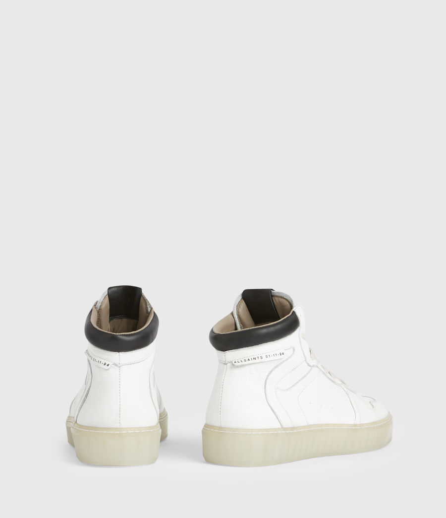 Men's Davian High Top Leather Trainers (chalk_white) - Image 5