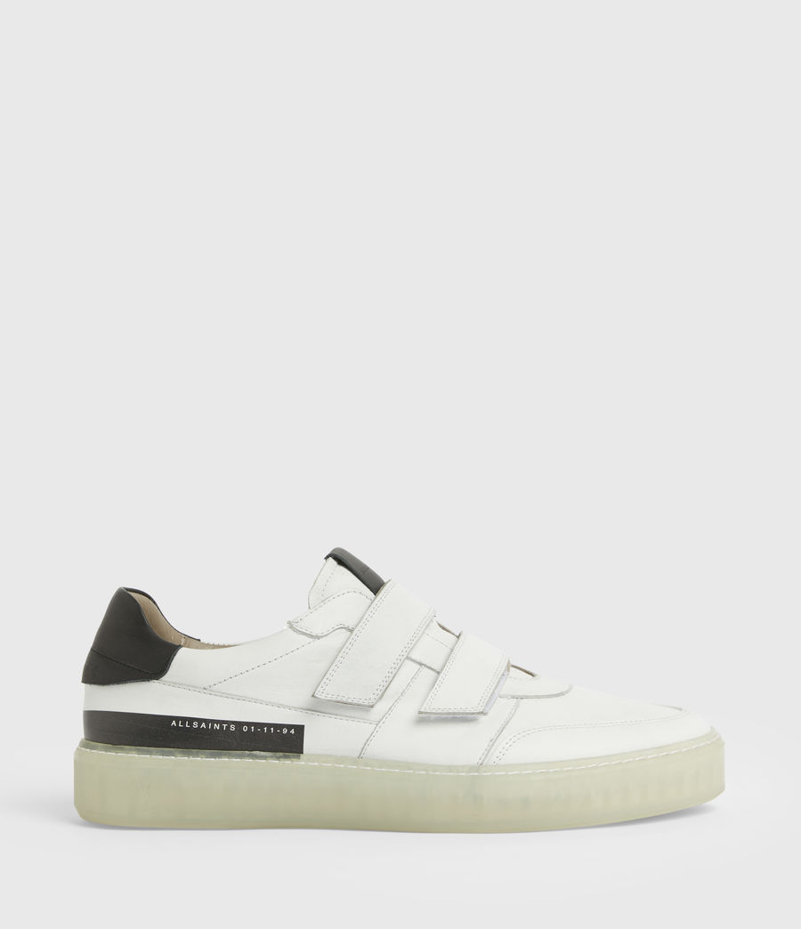 Men's Jonah Low Top Leather Trainers (chalk_white) - Image 1