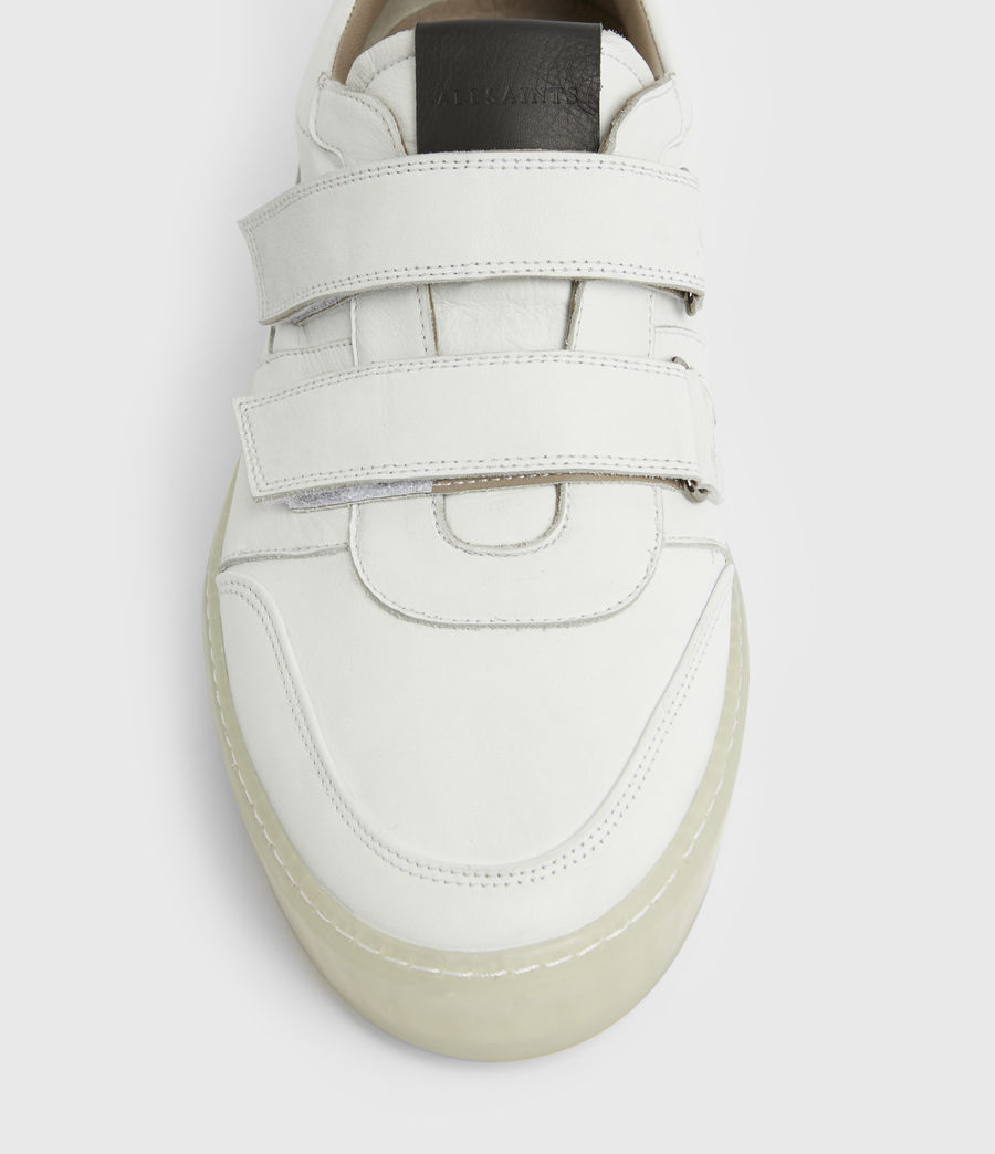 Men's Jonah Low Top Leather Trainers (chalk_white) - Image 2