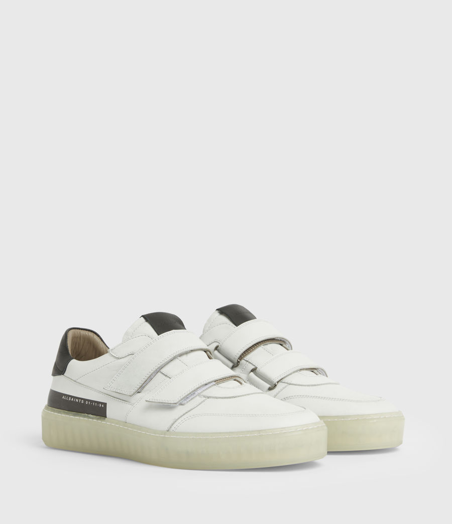 Men's Jonah Low Top Leather Trainers (chalk_white) - Image 3