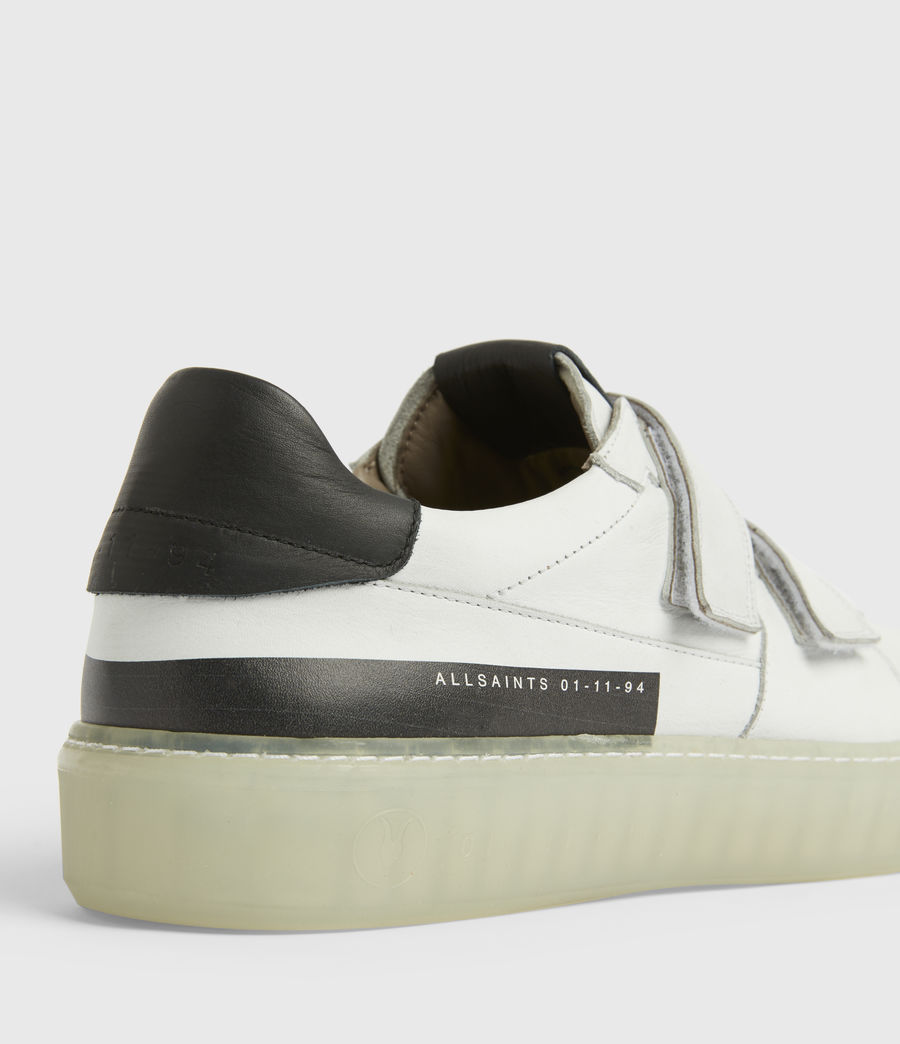 Men's Jonah Low Top Leather Trainers (chalk_white) - Image 4